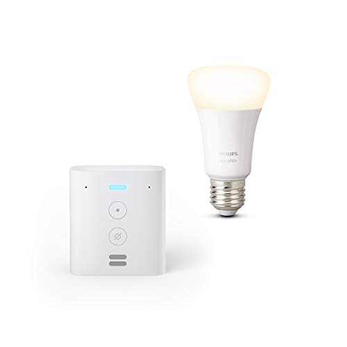 Echo Flex + Philips Hue White Lampadina Connessa (E27), compatibile con Alexa
