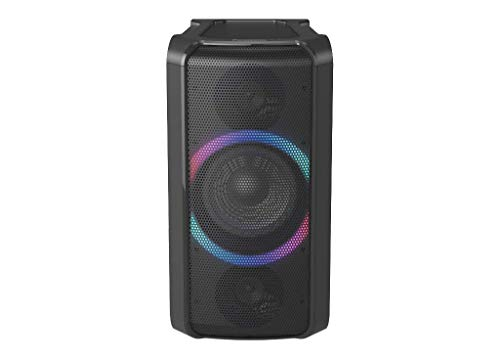 Panasonic SC-TMAX5EG-K Sistema di Altoparlanti Bluetooth, 150W, Facile da Trasportare, Sistema Bass Reflex, Compatibile con Power Bank, Fast Wireless Charging Qi, USB, Aux, Nero