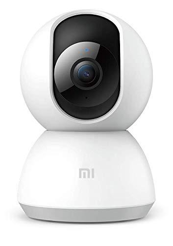 Xiaomi Mi Home Security Camera 360° 1080P, Videocamera di Sicurezza, Ruota a 360°, Visione notturna, Connettività Wi-Fi, Bianco