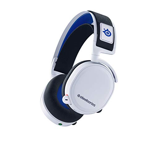 SteelSeries Arctis 7P Wireless, Connessione wireless a 2,4 GHz senza perdita di dati, Per PlayStation 5 e PlayStation 4, Bianco