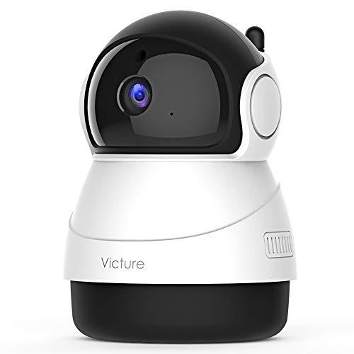 [Nuova Versione] Victure 1080P Telecamera WiFi di Sorveglianza, Videocamera Interna con Rilevamento del Suono e del Mivimento, Audio Bidirezionale, Nuova Applicazione Victure Home