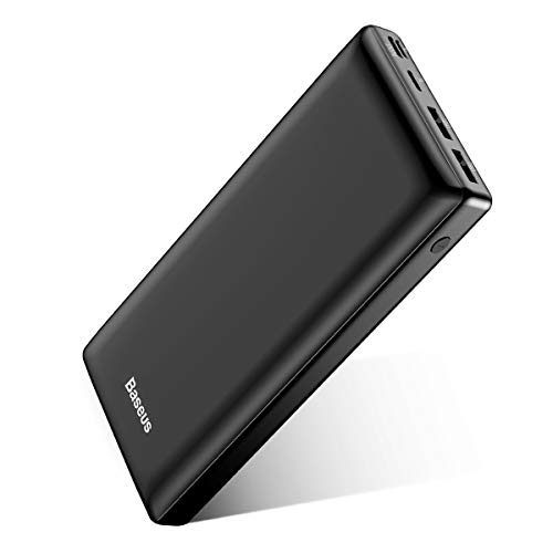 Baseus Power Bank 30000 mAh, Caricatore Portatile a 3 porte USB C Batteria Esterna Portatile, Caricabatterie Portatile per iPhone 12 Pro Max, iPad, Mac, Samsung, Huawei,Xiaomi ,Nintendo Switch Nero