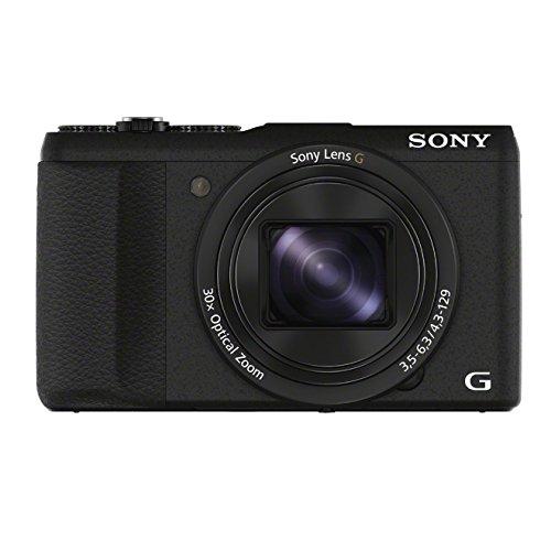 Sony DSC-HX60V Fotocamera Digitale Compatta, FHD, Cyber-shot, Sensore CMOS Exmor R da 20.4 MP, Zoom Ottico 30x, GPS, Nero