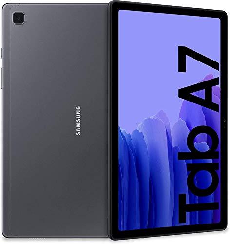 Samsung Galaxy Tab A7 Tablet, Display 10.4' TFT, 64GB Espandibili Fino a 1TB, RAM 3GB, Batteria 7.040 mAh, Wi-Fi, Android 10, Fotocamera Posteriore 8 MP, Dark Gray [Versione Italiana]