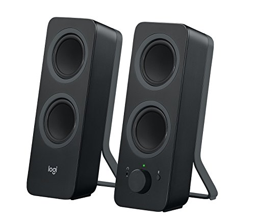 Logitech Z207 Altoparlanti per PC Wireless Bluetooth, Audio Stereo, 10 Watt, Ingresso Audio 3.5 mm, Jack per Cuffie, Multidispositivo, Easy Switch, Presa EU, PC/TV/Smartphone/Tablet, Nero