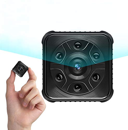 Telecamera Spia, PiAEK 1080P HD Mini Telecamera Spia wifi, Videocamere di sorveglianza con Visione Notturna e Rilevamento del Movimento