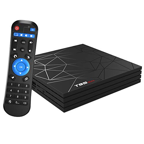 Android TV Box, Android 9.0 TV BOX 4 GB RAM 32 GB ROM H6 Quad core corex-A53 Supporto 3D 6K Ultra HD H.265 WiFi 2.4 GHz Ethernet HD Smart TV BOX