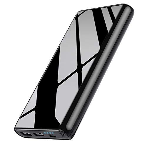 Power bank, 25800 mAh Caricabatterie Portatile【Sicuro e Duraturo-Carica Ciclo 2000 volte +】Batteria Esterna con IC di controllo intelligente Carica Veloce Batteria Portatile per iPhone Samsung Huawei