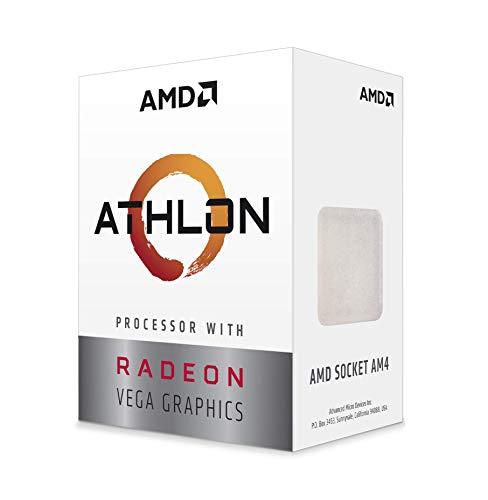 Processore AMD Athlon 3000G con grafica Radeon Vega 3 (2C/4T, orologio base da 3,5 GHz)