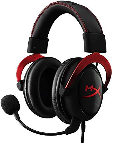 HyperX Cloud II Red Cuffie Gaming per PC/PS4/Mac/Mobile, Rosso