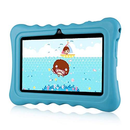 Ainol Q88A Tablet per Bambini da 7 Pollici, Android 8.1 A50 Cortex-A7 Quad Core 1GB+8GB Tablet Educativo, con Custodia in Silicone Stander, WiFi Doppia Fotocamera, Blu