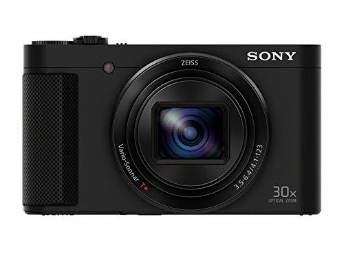 Sony DSC-HX90 | Fotocamera Digitale Compatta Travel con Sensore CMOS Exmor R da 18.2 MP, ottica Zeiss 24-720 mm, Zoom Ottico 30X, Mirino OLED Tru-Finder, Nero