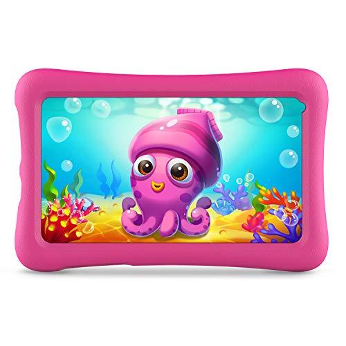 VANKYO Z1 Tablet per Bambini 7 Pollici 32GB ROM, Android 8.1 Oreo IPS HD Display WiFi Bluetooth Kidoz Preinstallato con Kid-Proof Custodia (Rosa)