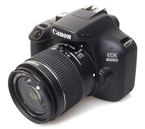 Canon EOS 4000D 18-55 SEE Fotocamera, Nero