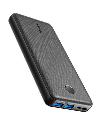 Powerbank 20000mAh Anker PowerCore Essential 20000mAh, power bank con PowerIQ e ingresso USB-C, caricabatterie portatile per iPhone, Xiaomi, Huawei, Samsung, iPad, batteria esterna ad alta capacità