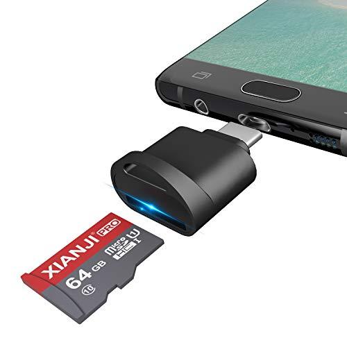 Rytaki Lettore di schede Micro SD USB C, Adattatore USB per Micro SD/microSDHC/MicroSDXC, con Funzione OTG, Lettore di schede di Memoria per Scheda Micro SD/TF Card, Plug And Play, Nero