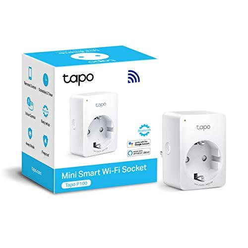 TP-Link Presa Intelligente WiFi Smart Plug, Compatibile con Alexa e Google Home, Controllo Remoto tramite APP Tapo, 10A, 2300W (Tapo P100)