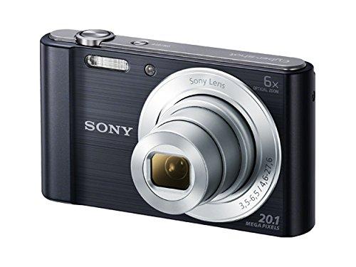 Sony DSC-W810 Fotocamera Digitale Compatta con Sensore Super HAD CCD da 20.1 MP, Zoom Ottico 6x, Video HD, Nero