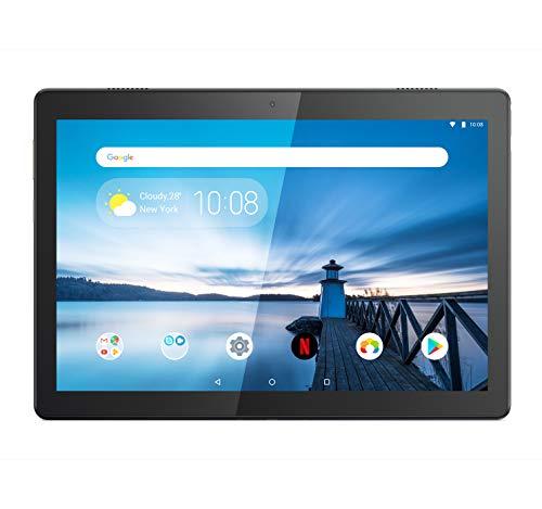 Lenovo TAB M10 Tablet, Display 10.1' HD, Processore Qualcomm Snapdragon 429, 32GB espandibili fino a 128GB, RAM 2GB, WiFi, Android Oreo, Slate Black