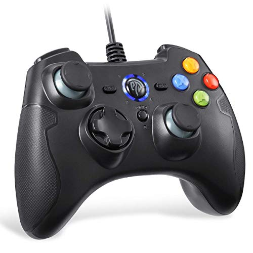 EasySMX ESM-9100 - PS3 PC Controller con cavo, PS3 joystick,Controller di gioco per PS3 ,Wired Gamepad Controller,supporta Windows, Vista, TV box, PS3 e Android Nero