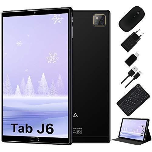 Tablet 10 Pollici Android 10.0 - RAM 4GB   ROM 64GB - WIFI -Octa core (Certificazione GOOGLE GSM) -JUSYEA Tablets - 6000mAh Batteria — Mouse   Tastiera e Altro (Nero)