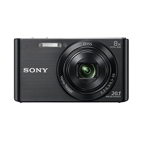 Sony DSC-W830 Fotocamera Digitale Compatta, Sensore Super HAD CCD da 20.1 MP, Zoom Ottico 8x, Video HD, SteadyShot Ottico, Nero