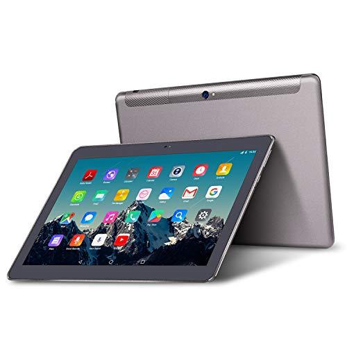 Tablet 10 Pollici - TOSCIDO Android 9.0 Certificato da Google GMS,Quad core,3G Dual Sim Carta,64 GB Memoria,RAM 4 GB,WiFi/Bluetooth/ GPS/OTG,Suono Stereo con Doppio Altoparlante – Grigio