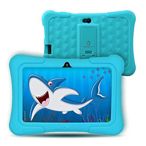 Dragon Touch Y88X Plus Tablet per Bambini 7 Pollici Android 8.1 Wi-Fi e Bluetooth IPS HD 1024*600 Quad Core 1 GB RAM 16 GB Rom Kidoz e Google Play preinstallato con Kid-Proof Custodia (Blu) …