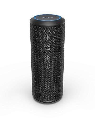 Zamkol 5200mAh Altoparlante Bluetooth, 4.2 Cassa Wireless Speaker, IPX6 Portatile Stereo Speaker, Bluetooth & AUX & TWS connection, Speakers with bass radiator, per Smartphone, Computer, TV