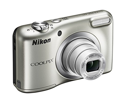 Nikon Coolpix A10 Fotocamera Digitale Compatta, 16 Megapixel, Zoom 5X, LCD 2,8', HD, Argento [Nital card: 4 anni di garanzia]