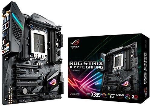 ASUS ROG Strix X399-E Gaming Scheda Madre AMD X399 EATX con Illuminazione Aura Sync RGB LED, Wi-Fi 802.11ac, DDR4 3600 MHz, Dual M.2, SATA 6 Gbps e un Connettore USB 3.1 Gen 2 sul Pannello Frontale