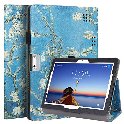 VOVIPO Custodia Yuntab 10.1 / YELLYOUTH 10'/ Tagital 10.1 - Custodia Premium in Pelle PU con Supporto Stilo per Yuntab K107 / K17, BEISTA 10.1 K107 / M107, YELLYOUTH 10.1 Pollici Tablet Android