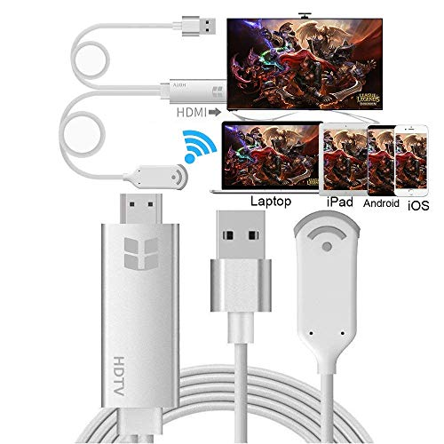 Adattatore display wireless, HuiHeng WiFi Wireless HDMI Dongle Adattatore 1080P HDTV, supporto DLNA e Miracast e AirPlay Mirroring Screen per iOS Smartphone Android Wiondows MacOS Portatili