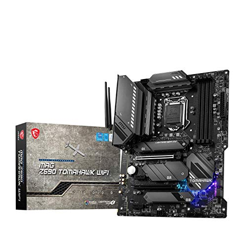 MSI MAG Z590 TOMAHAWK WIFI Scheda madre gaming ATX - Supporta processori Intel Core 11th Gen, LGA 1200 - Mystic Light, 60A VRM, DDR4 Boost (5333MHz/OC), 1 x PCIe 4.0 x16, 3 x M.2 Gen4/3 x4, Wi-Fi 6E