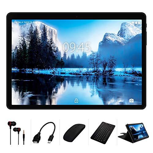 Tablet 10 Pollici YESTEL X7 Android 8.1 Tablets con 4GB RAM 64GB ROM+ Espanso 128 GB LET Dual SIM 8000mAh(WiFi/Bluetooth/GPS)-con Tastiera e Mouse-Nero