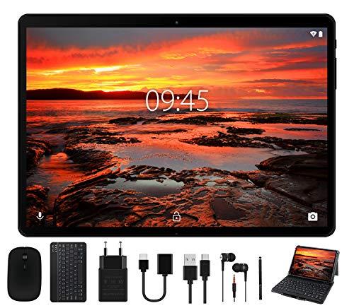 Tablet 10 Pollici - Android 9.0 Pie OS, GOODTEL G3 con 4 GB RAM + 64 GB ROM, Tablets PC con WiFi   8000 mAh Batteria   Doppia Fotocamera   Bluetooth   Type-C, con Tastiera Bluetooth e Mouse