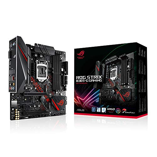 ASUS ROG STRIX B365-G GAMING - Scheda madre (Intel LGA-1151 B365 mATX with Aura Sync RGB, pre-mounted I/O shield, dual M.2, HDMI, DVI, SATA 6 Gbps and USB 3.1 Gen 2