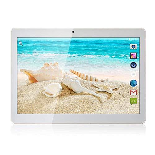 Tablet Android 8.1, Tablet da 10 pollici con processore quad-core da 4GB RAM 64 GB con lo schermo IPS HD, Tablet famiglia con, GPS, FM, WiFi 5G, Corpo in Metallo (Argento)