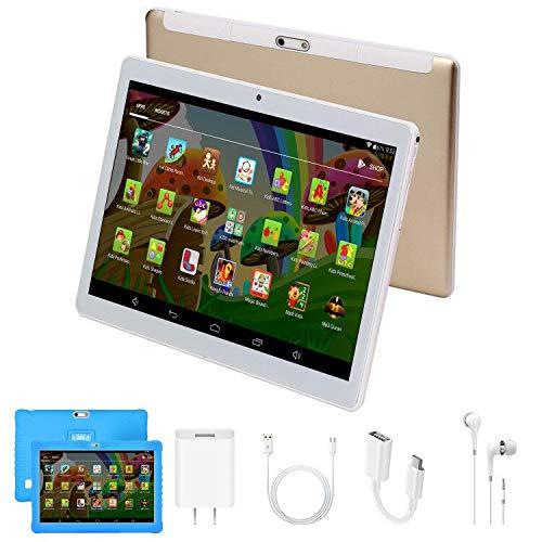 Tablet 10.1 Pollici HD WIFI Android 7.0 Quad Core 2GB RAM 32GB ROM/Espandere a 64 GB 3G Tablet Giochi Educativi 4000mAh Tablet per Bambini Supporto 3D Double SIM Bluetooth GPS OTG DUODUOGO G15 (Blu)