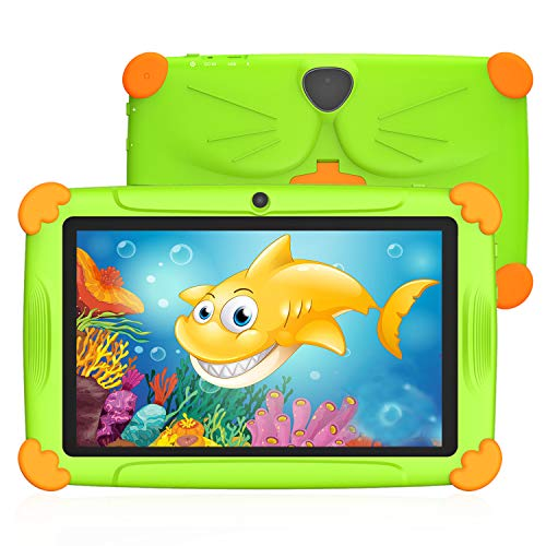 Tablet per Bambini 7 Pollici Android 9.0 Con WiFi 3GB RAM 32GB ROM Quad Core Kid-Proof Angolo Supporto APP Iwawa Netflix Google Play 1 a 12 Anni Educativo - Verde