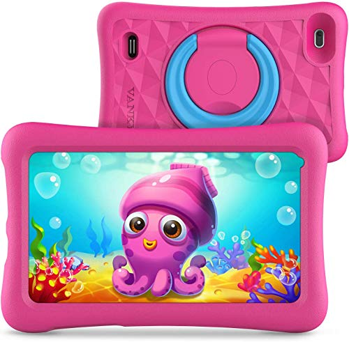 "VANKYO MatrixPad Z1 Tablet per Bambini 7"" 32GB ROM, Android 8.1 Oreo IPS HD Display WiFi Bluetooth Kidoz Preinstallato con Kid-Proof Custodia (Rosa)"