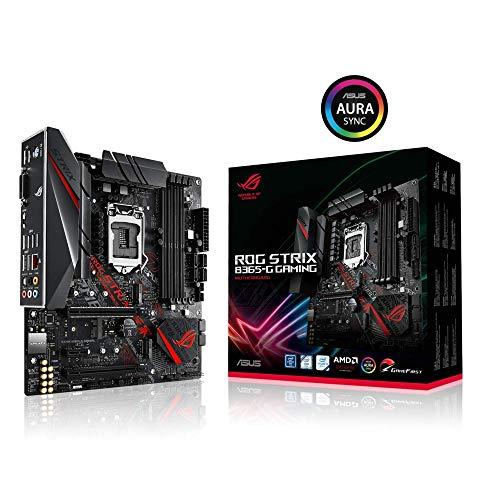 ASUS ROG STRIX B365-G GAMING - Scheda madre (Intel LGA-1151 B365 mATX  with Aura Sync RGB, pre-mounted I/O shield, dual M.2, HDMI, DVI, SATA 6 Gbps and USB 3.1 Gen 2