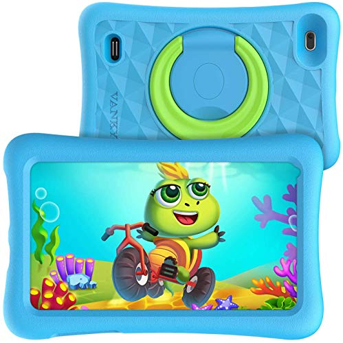 "VANKYO MatrixPad Z1 Tablet per Bambini 7"" 32GB ROM, Android 8.1 Oreo IPS HD Display WiFi Bluetooth Kidoz Preinstallato con Kid-Proof Custodia (Azzurro)"
