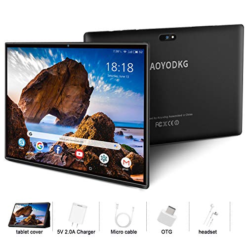 Tablet 10 Pollici con Wifi Offerte Tablet PC Android 9.0 GO, Google Certificazione GMS , 3GB RAM+32/128GB ROM , 4G LTE Call ,8MP Quad-Core Supporta Netflix /APK,WiFi /Bluetooth/ GPS/OTG(nero)