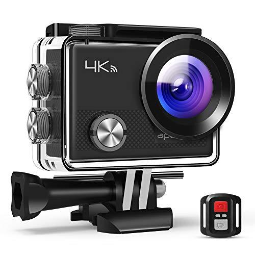 APEMAN 4K Action Cam Wi-Fi 16MP Ultra FHD Impermeabile 30M Immersione Sott'Acqua Camera con Schermo 2 Pollici 170 Gradi Ampia Vista Grandangolare/Telecomando 2.4G/ 20 Accessori all'Interno