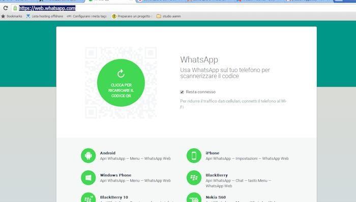 Trucchi per spiace un cellulare - whatsapp Web