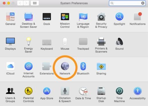 Impostazioni - Cambiare DNS su Mac
