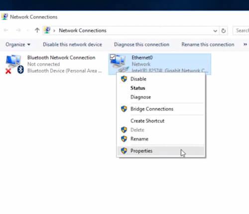 Cambiare DNS su Windows10 - Connessione - Proprietà