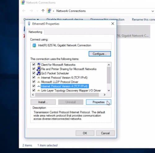 Cambiare DNS su Windows10 -
