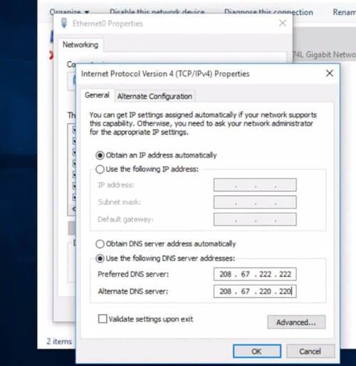 Cambiare DNS su Windows10 - imposta DNS